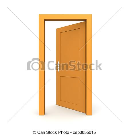 Door clipart orange #4