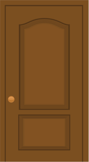 Door clipart orange #7