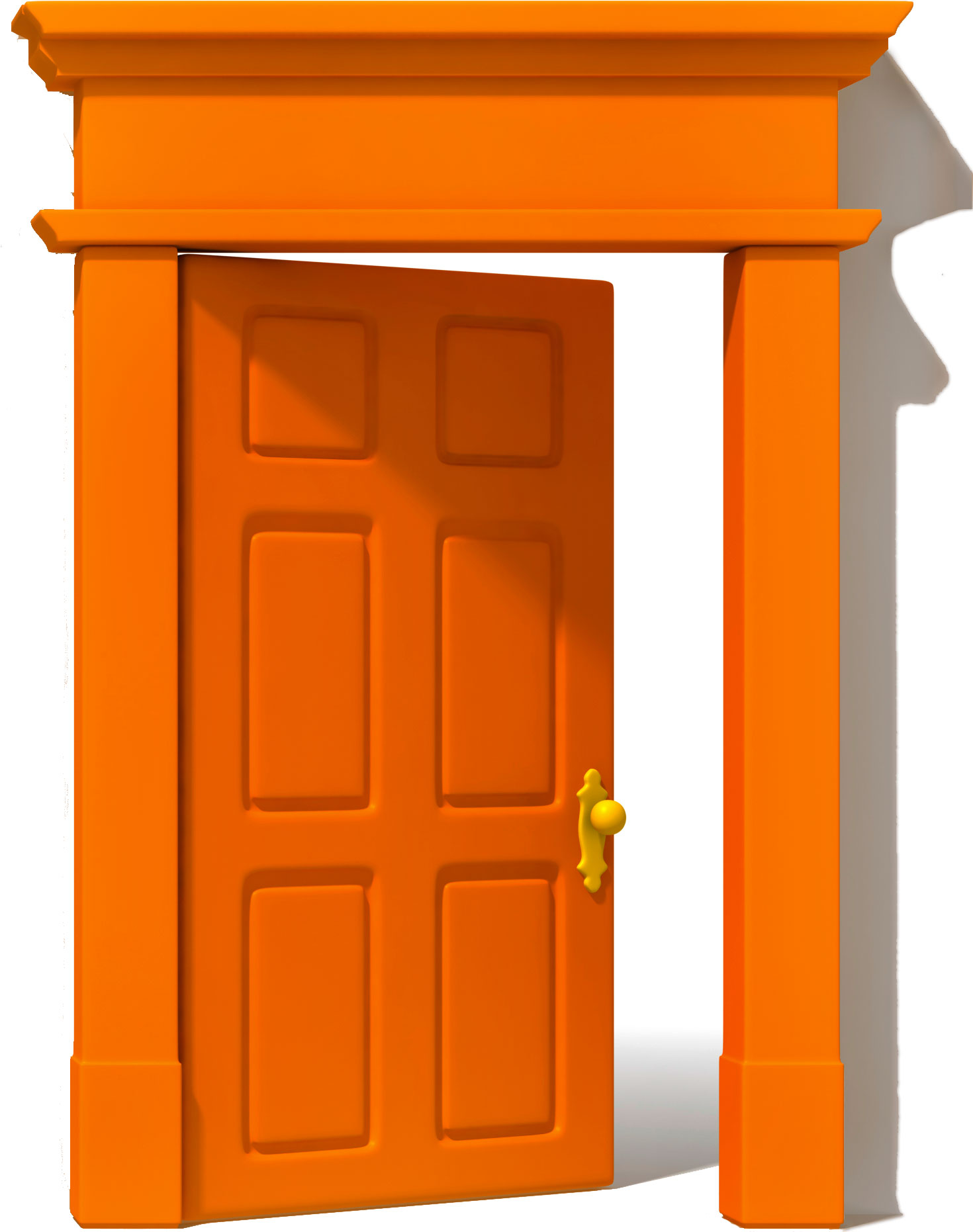Door clipart orange #2