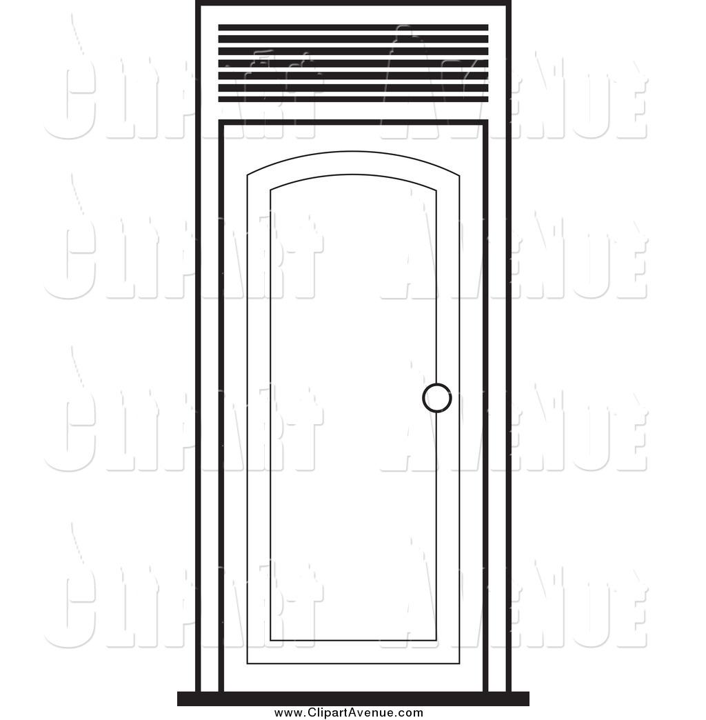 Color clipart door Free Outline Avenue White Door