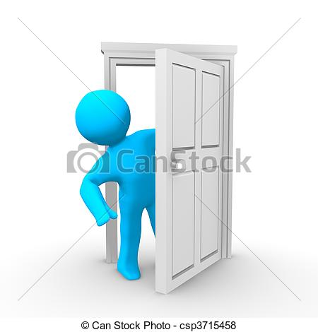 Doorway clipart person #6