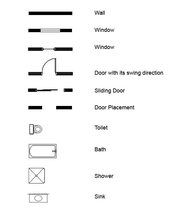 Door clipart plan #4