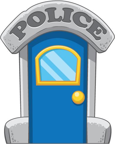 Door clipart police station #5