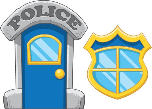 Door clipart police station #6