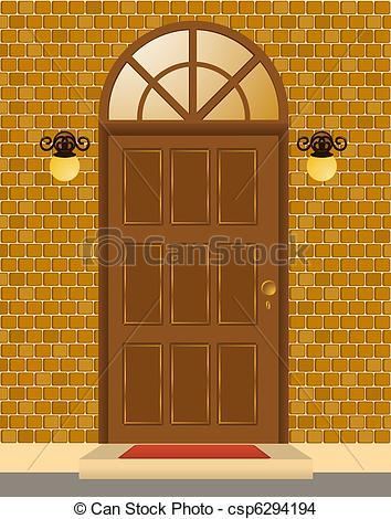 Door clipart puerta Csp6294194 EPS Facade door Vector