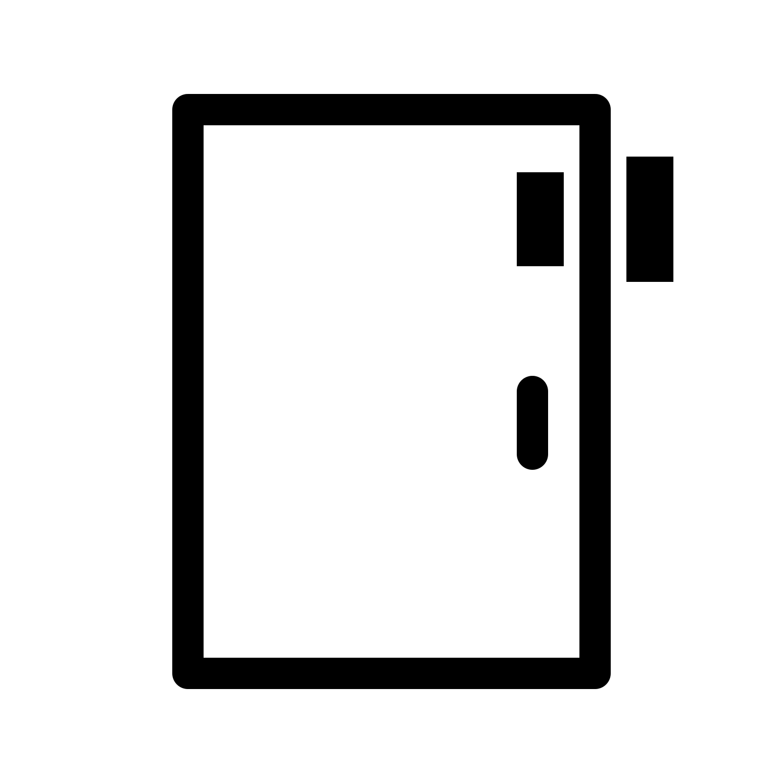 Door clipart rectangle shape Handle of a SVG a