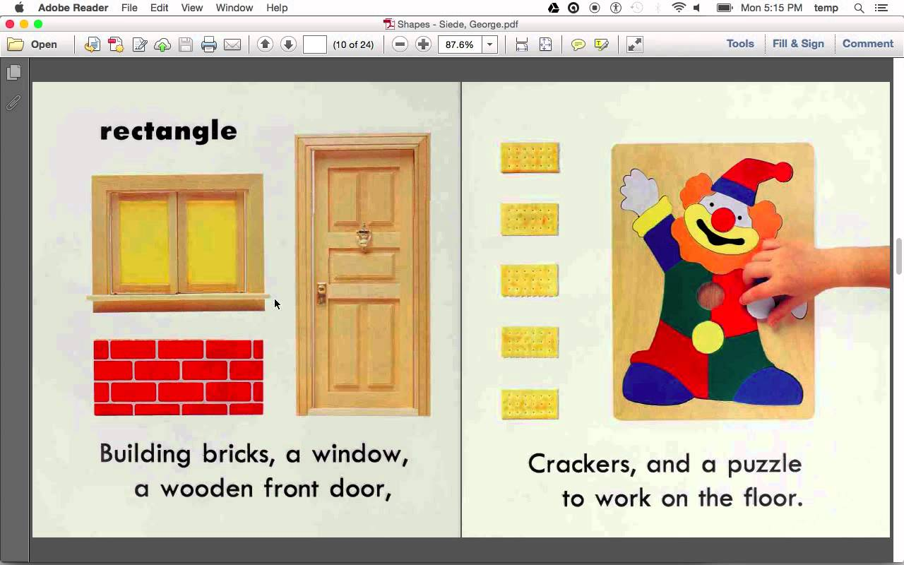 Door clipart rectangle shape Shapes (read Shapes YouTube aloud)