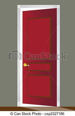 Door clipart red Frame Open of Red decorative