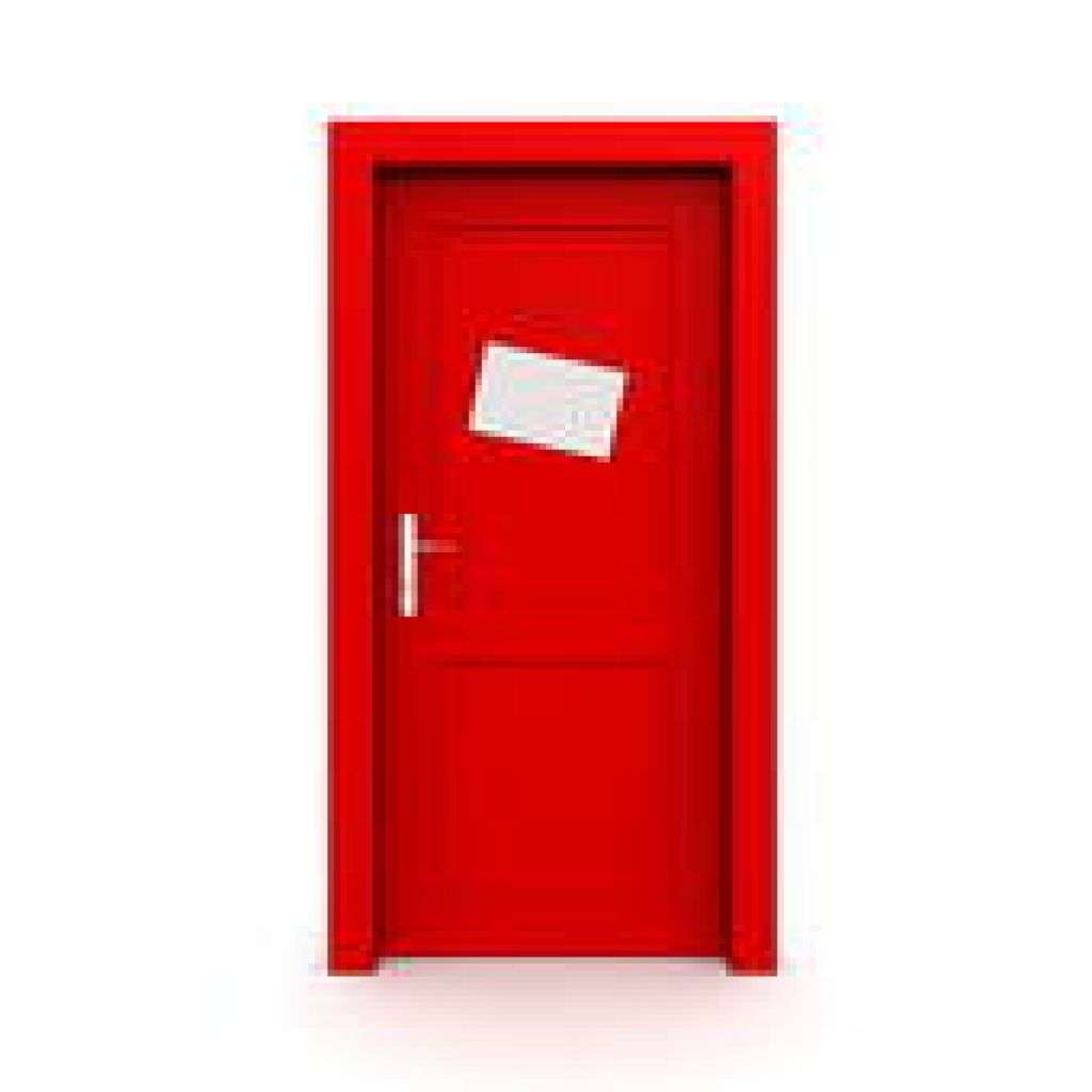 Door clipart red Clipart Closed Graphic Red Sign