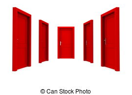 Door clipart red Red  Closed Choose single