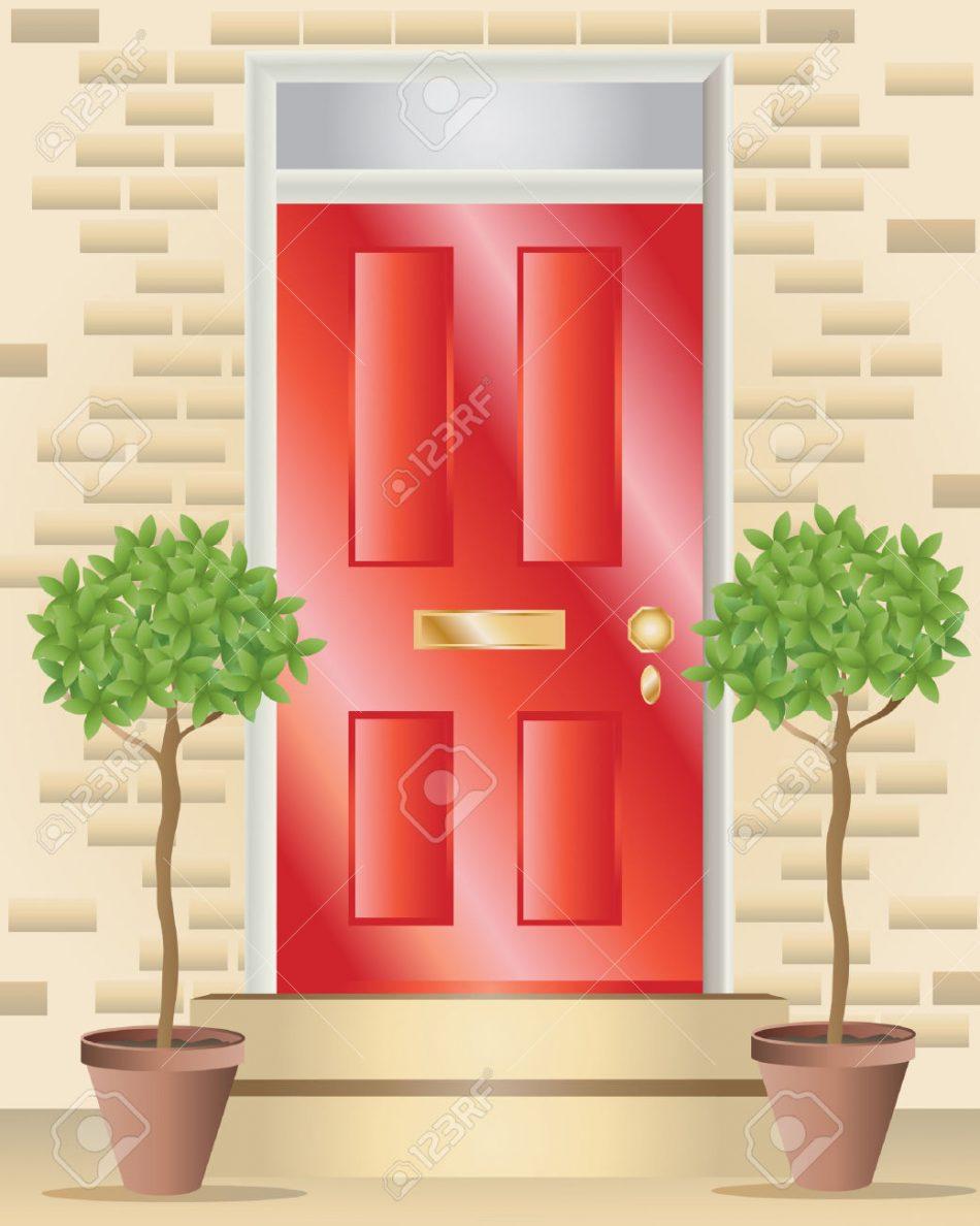 Door clipart red Shiny  Door Clipart Front