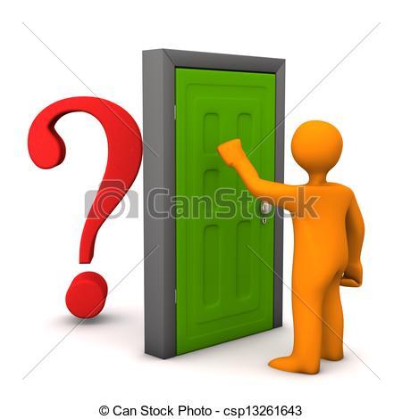 Door clipart sideways Orange the of knocks csp13261643