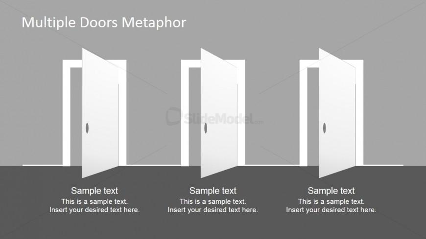 Door clipart three Clipart Three PowerPoint Doors SlideModel