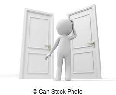 Door clipart three Figures  front 124 three