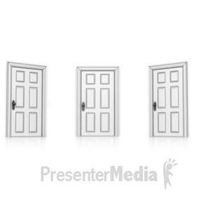 Door clipart three Clipart Door 14209  Open