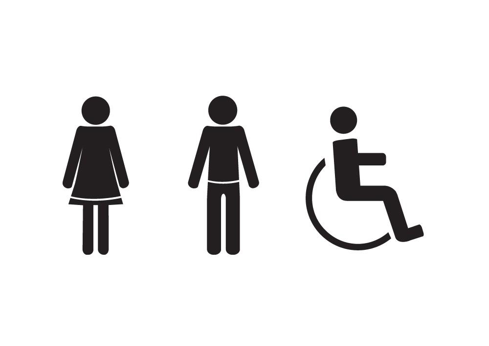 Door clipart toilet door Sign Toilet Stickers Art Disabled