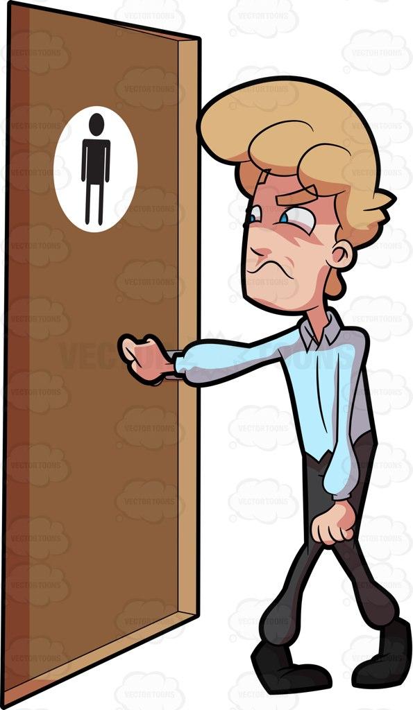 Door clipart toilet door Clipart A Cartoon Door Knocking