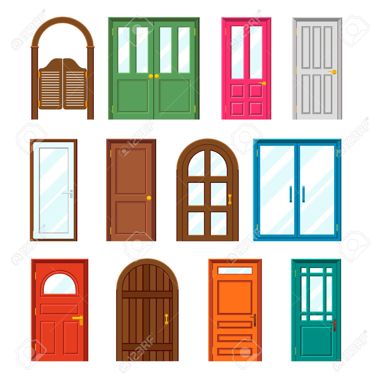 Doorway clipart front door #4