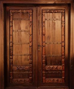 Door clipart wood door Vector at Door Clker Images