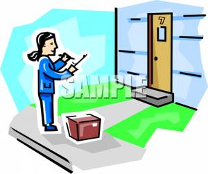 Doorstep clipart A a Doorstep At At