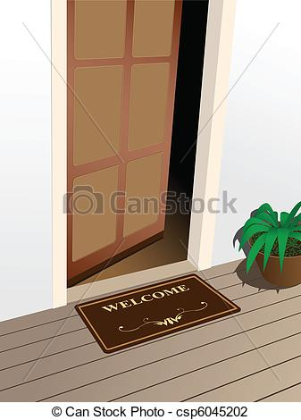 Doorstep clipart Of Drawings Illustration Art on