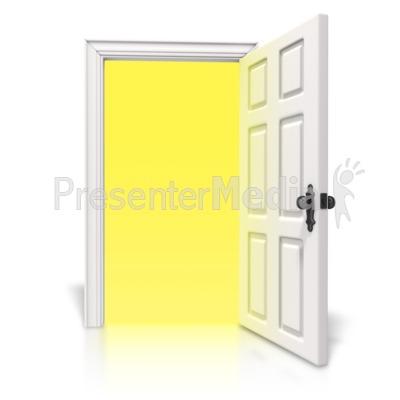 Open clipart opening door Light Art  Clipart Door