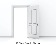 Door clipart open door #7
