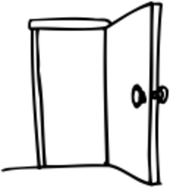 Door clipart open door #10
