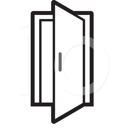 Open Door clipart Com Door open door Ajar