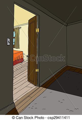 Doorway clipart bedroom door Clipart of Doorway csp29411411