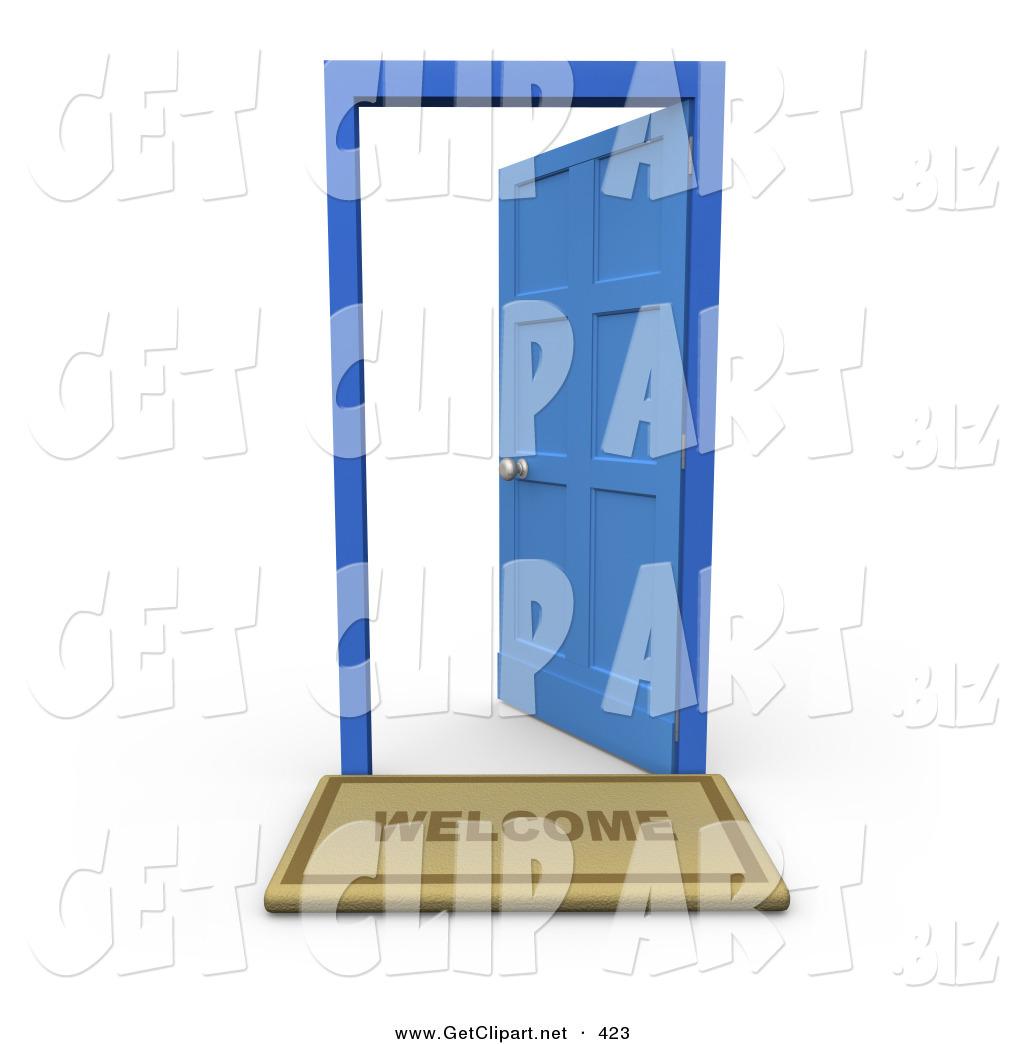 Doorway clipart blue door Welcome White Door of Open