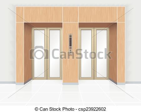 Doorway clipart entrance Door Illustration Elevator  Vector