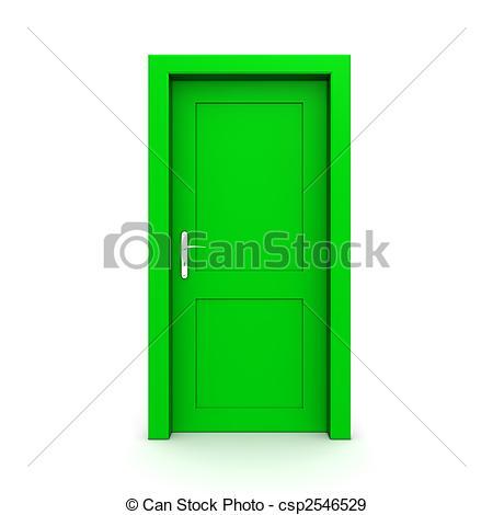 Doorway clipart green door  door door illustration single