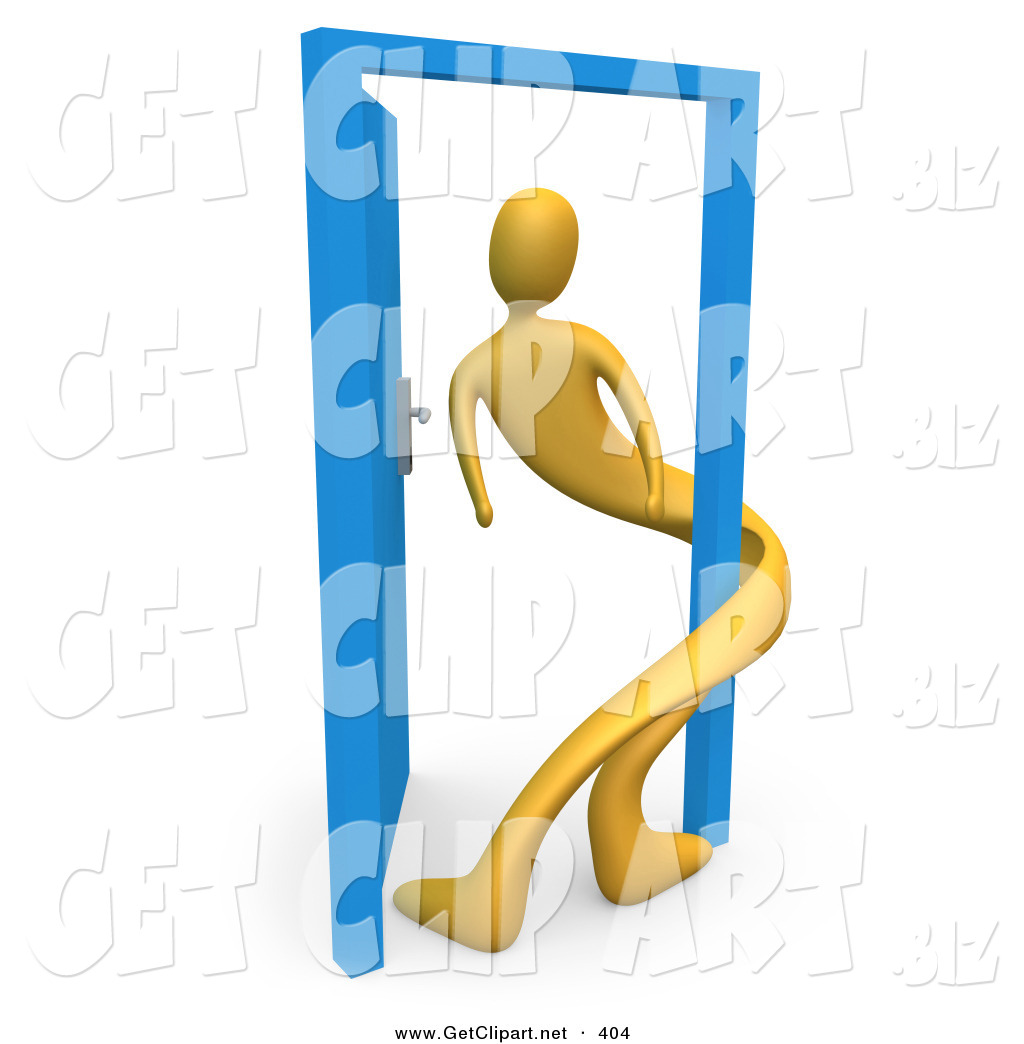 Doorway clipart person #10