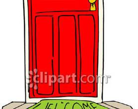 Doorway clipart welcome [Front Doorway Door Door Door