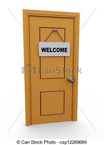 Doorway clipart welcome 3d Guest Door Stock Our