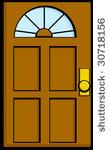 Doorway clipart wood door #4