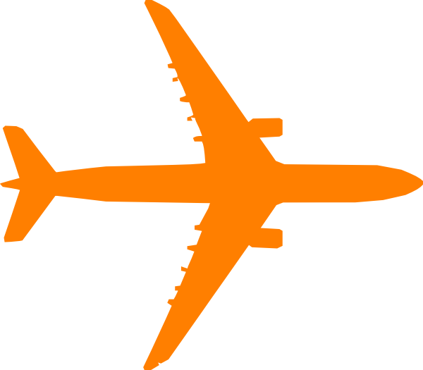 Dots clipart airplane Com at Orange vector this