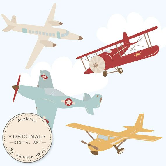Dots clipart airplane Digital fabric high of airplane