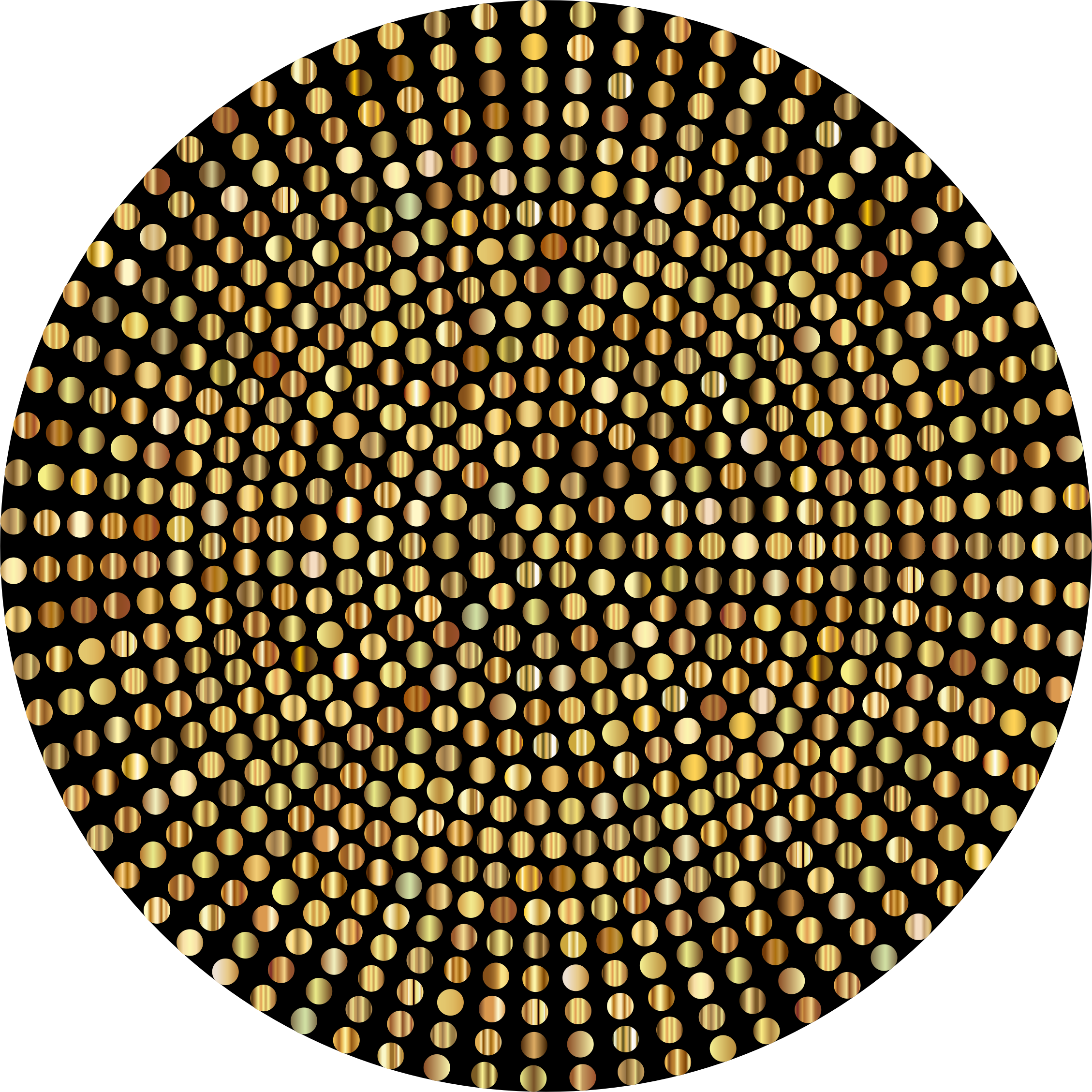 Dots clipart brown Gold Gold Dots Radial Clipart