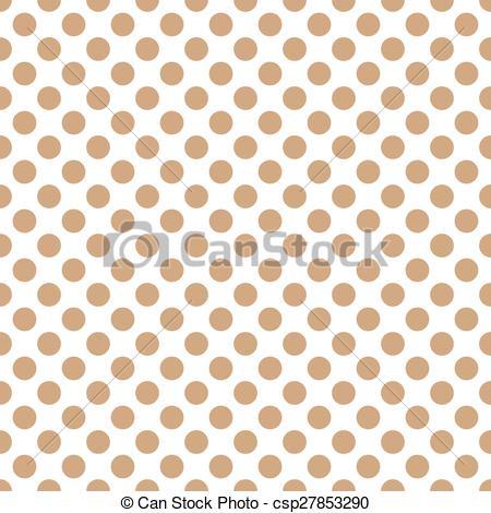Dots clipart brown Light dots polka Seamless dots