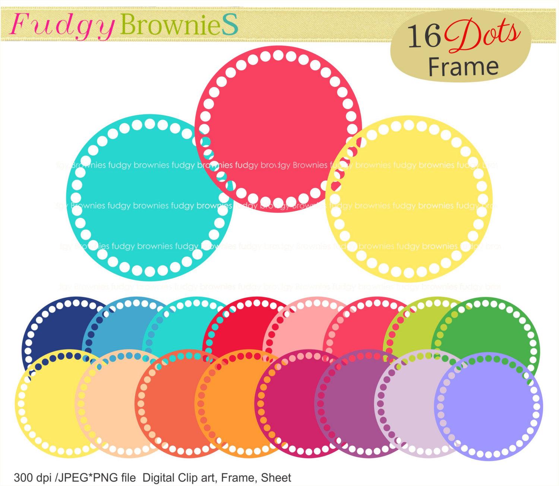 Dots clipart colored circle Circle frames dots file frames