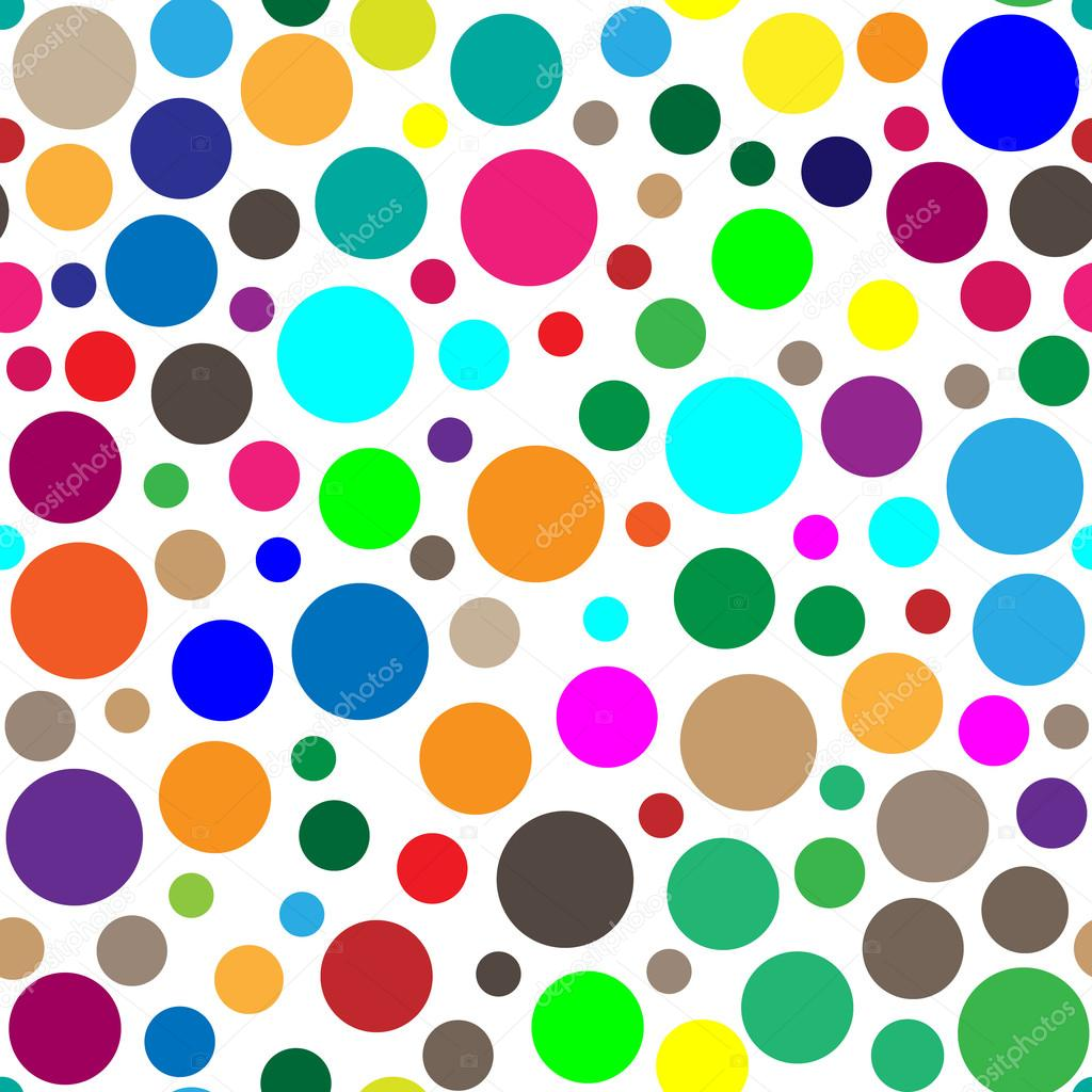 Dots clipart colored circle Vector sizes abstract  seamless