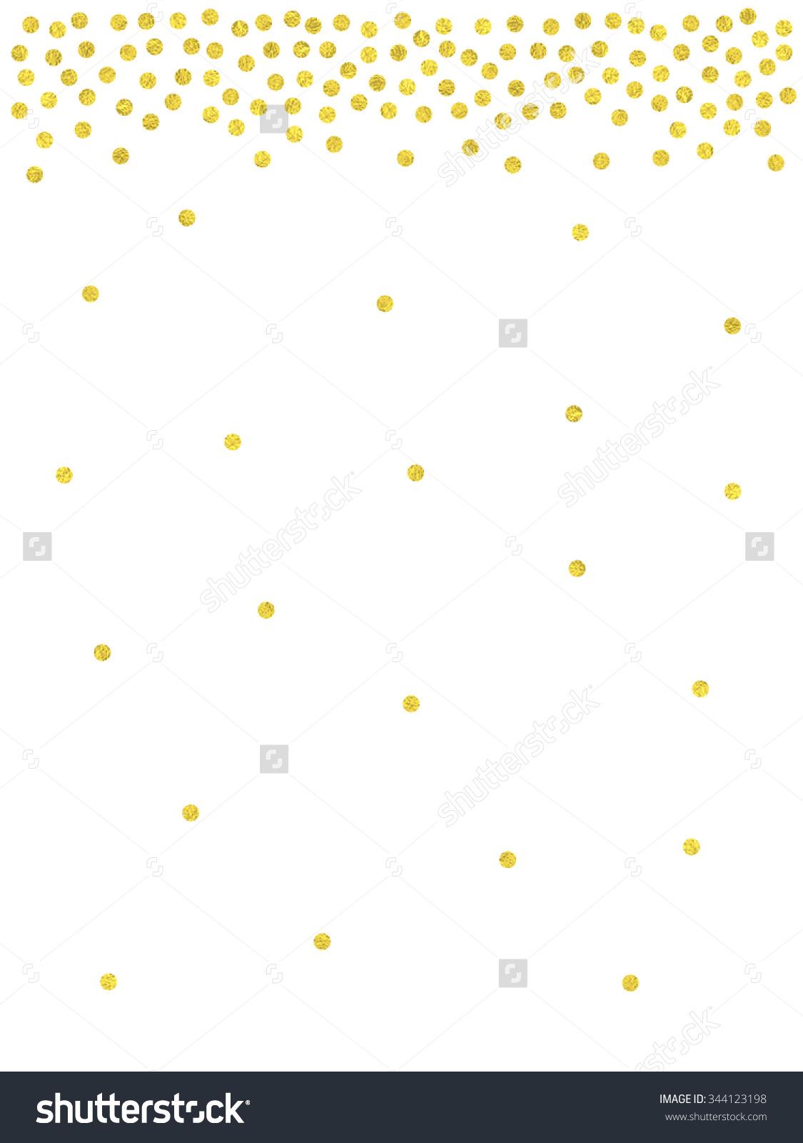 Dots clipart confetti Border Gold collection Polka dot