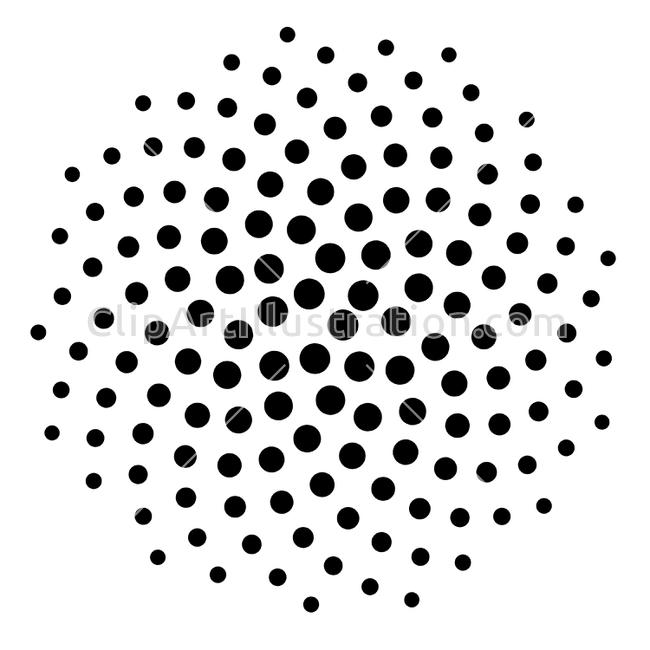 Dots clipart dot array 144 3d array Pattern Black