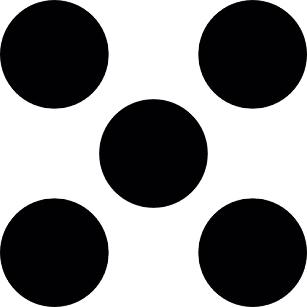Dots clipart five Dice five Icons Download Free