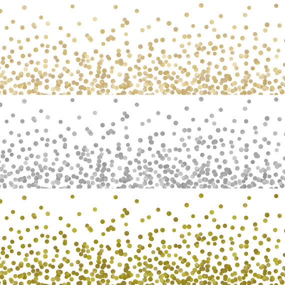 Dots clipart gold dot Digital clip glitter decoration confetti
