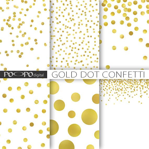 Dots clipart gold dot Find confetti more by on
