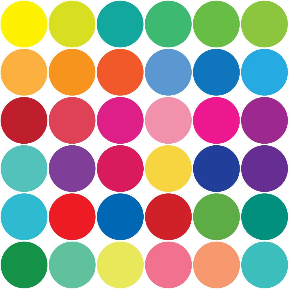 Dots clipart rainbow #12