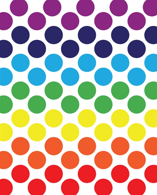 Dots clipart rainbow Polka Art Printed Spectrum Backdrop
